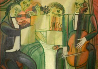 "2. Streichquartett I Gleb Viatkin I 1934 in Perm, lebt in Volgograd I ""Streichquartett"", 2006, Öl auf Leinwand,  174 x 194 cm"