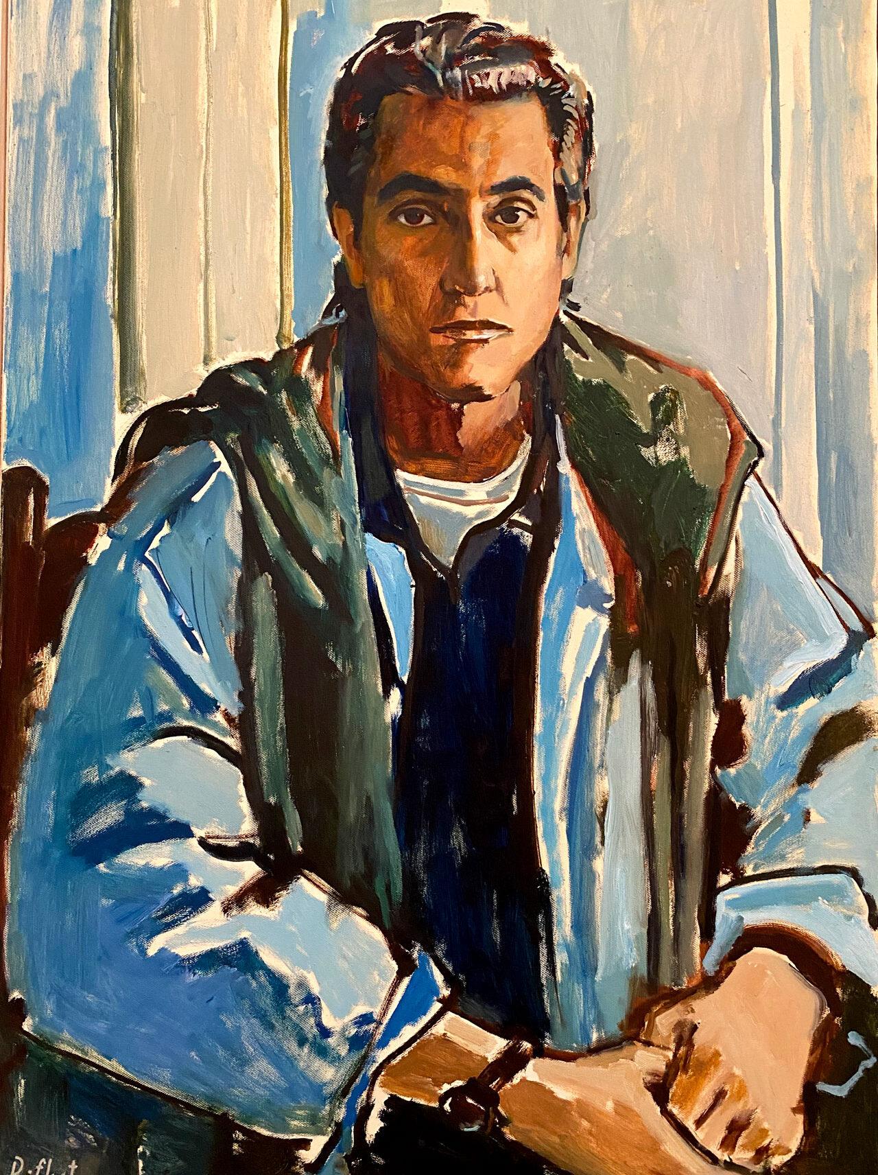 """""""Der Komponist P.-D. Ponnelle"""" I 90x60 I Öl auf Leinwand I 2007 I Rifkat Ismailovich Bukharmetov I 1951-2013 I Kirgisien"""