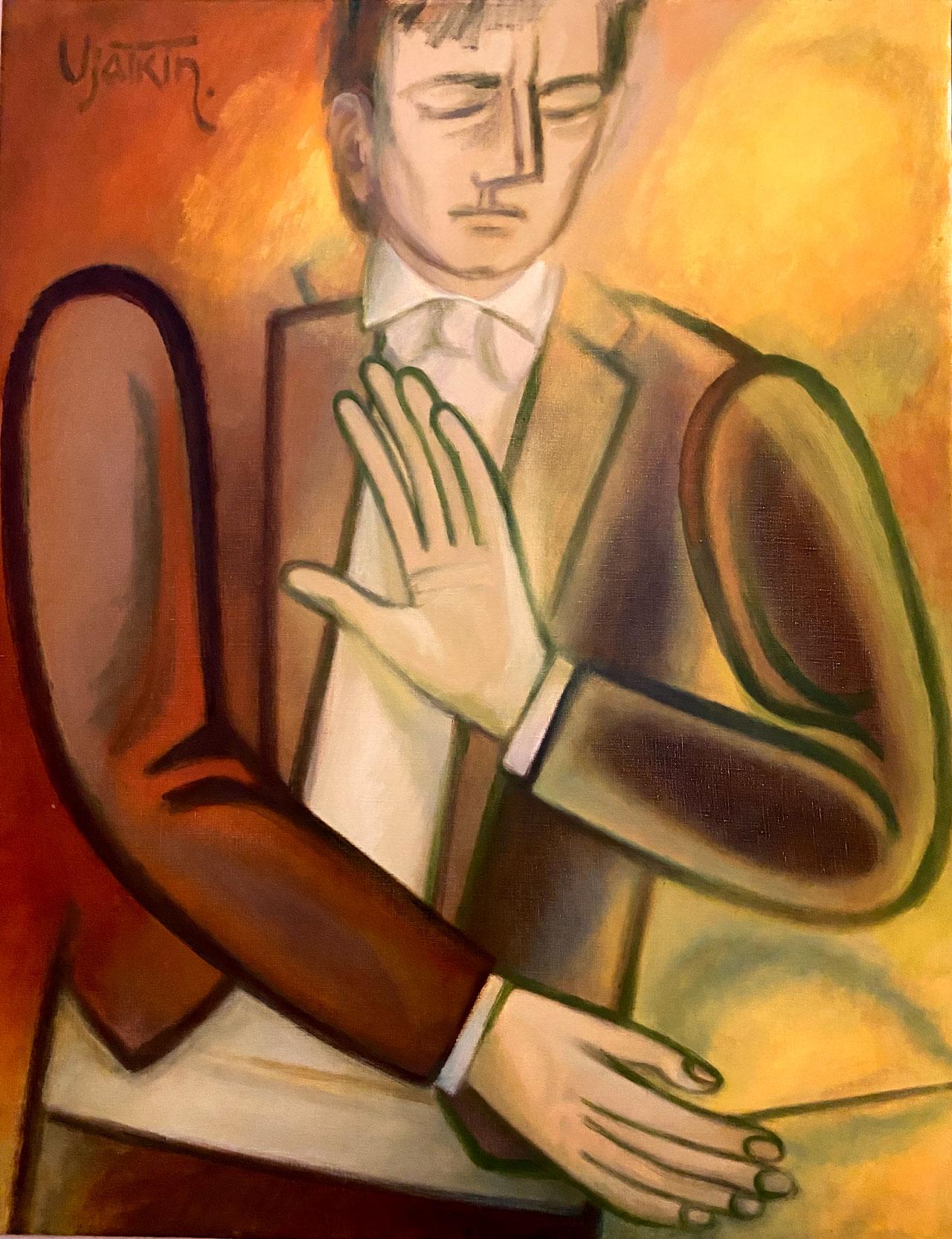 """Der Dirigent P.-D. Ponnelle"" I 168x85 I Öl auf Leinwand I 2004 I Gleb Viatkin I 1934* I Wolgograd"